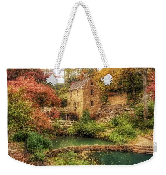 The Old Mill In Autumn - Arkansas - North Little Rock Weekender Tote Bag