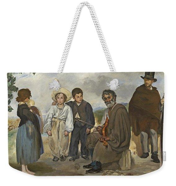 The Old Musician Weekender Tote Bag