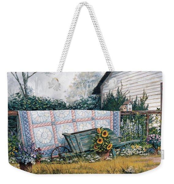 The Old Quilt Weekender Tote Bag