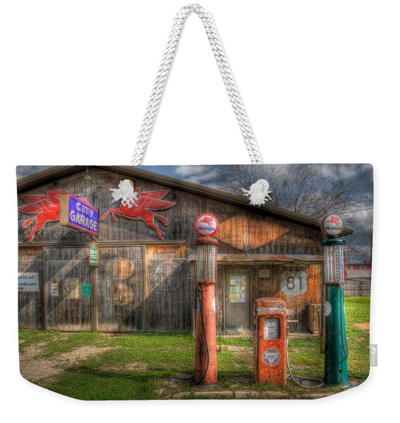 The Old Service Station Weekender Tote Bag