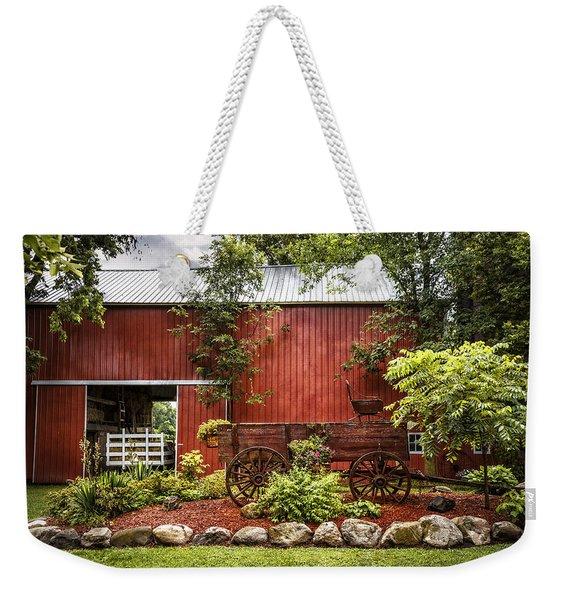 The Old Wood Cart Weekender Tote Bag