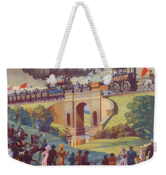 The Opening Of The Stockton And Darlington Railway Macmillan Poster Weekender Tote Bag