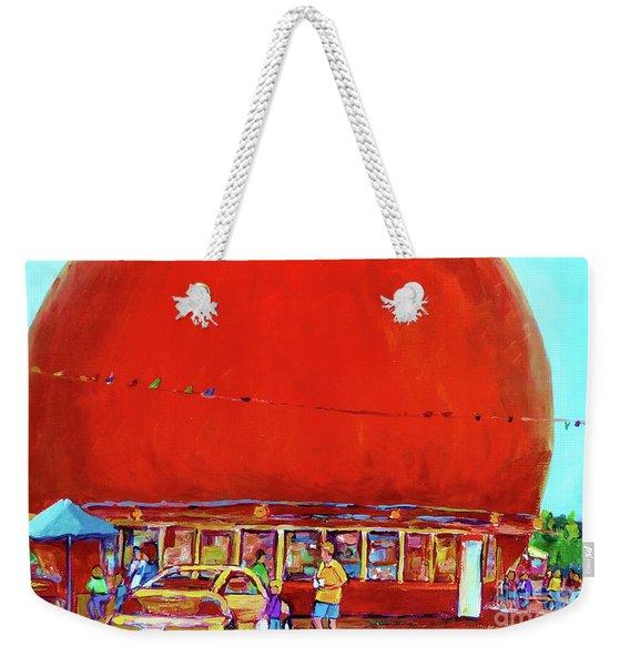 The Orange Julep Montreal Summer City Scene Weekender Tote Bag