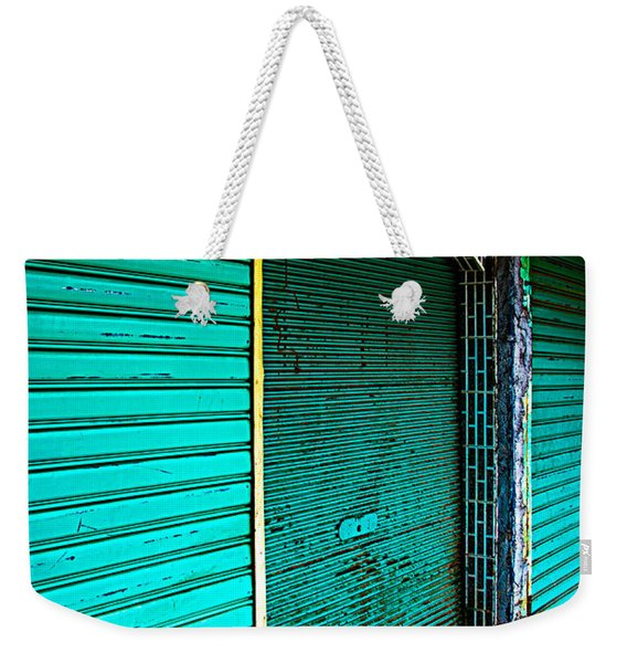 Marrakech Aqua Weekender Tote Bag