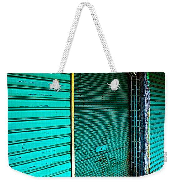 Marrakech Aqua Weekender Tote Bag