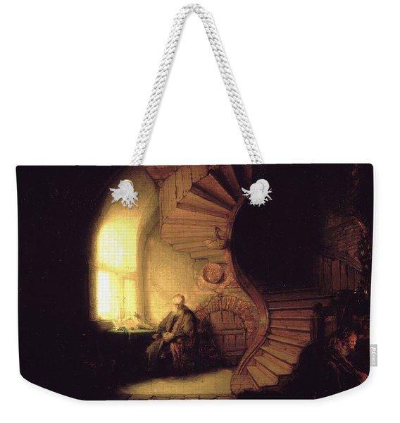 The Philosopher In Meditation Weekender Tote Bag