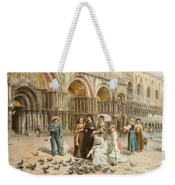 The Pigeons Of St Mark S Weekender Tote Bag