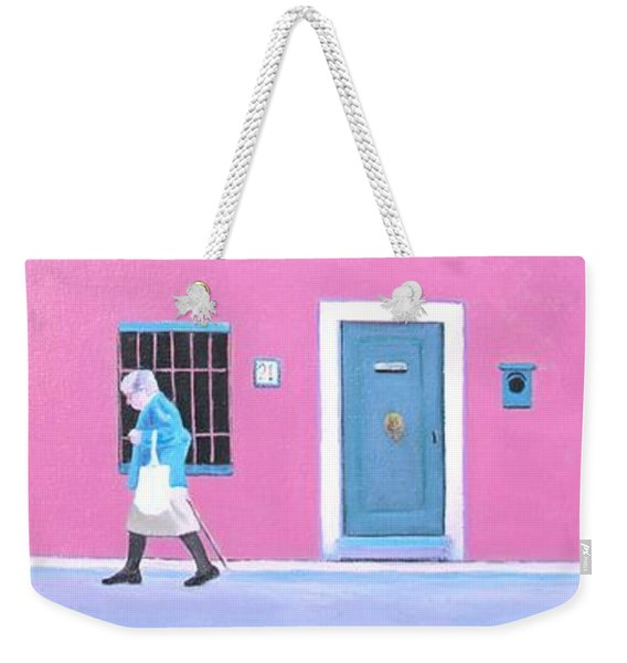 The Pink House With Green Shutters Weekender Tote Bag