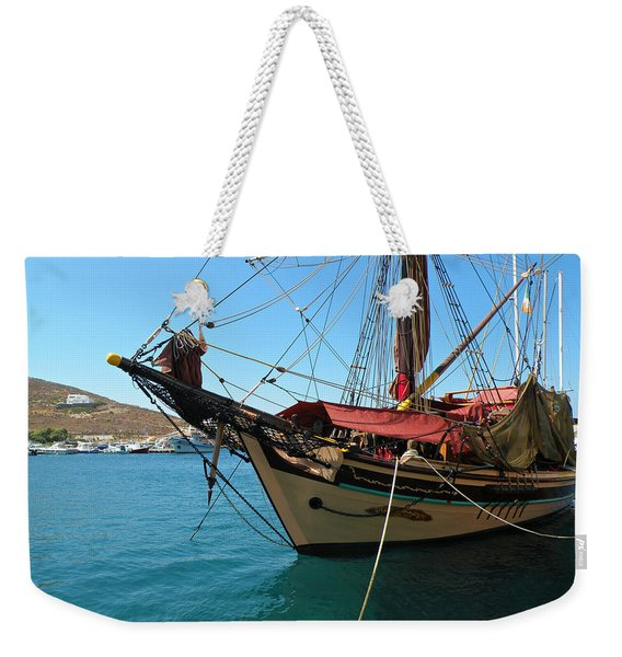 The Pirate Ship  Weekender Tote Bag