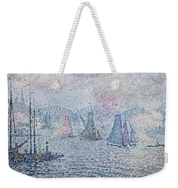 The Port Of Rotterdam, Or The Fumes Weekender Tote Bag