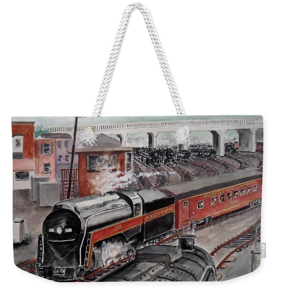 The Powhatan Arrow Roars Through The Yards Into Portmouth Weekender Tote Bag