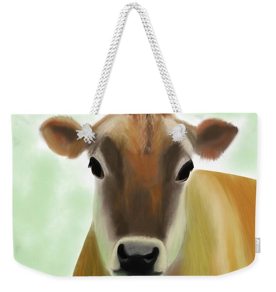 The Pretty Jersey Cow  Weekender Tote Bag