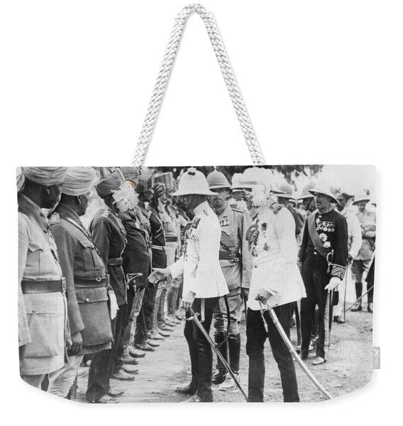 The Prince Of Wales In India Weekender Tote Bag