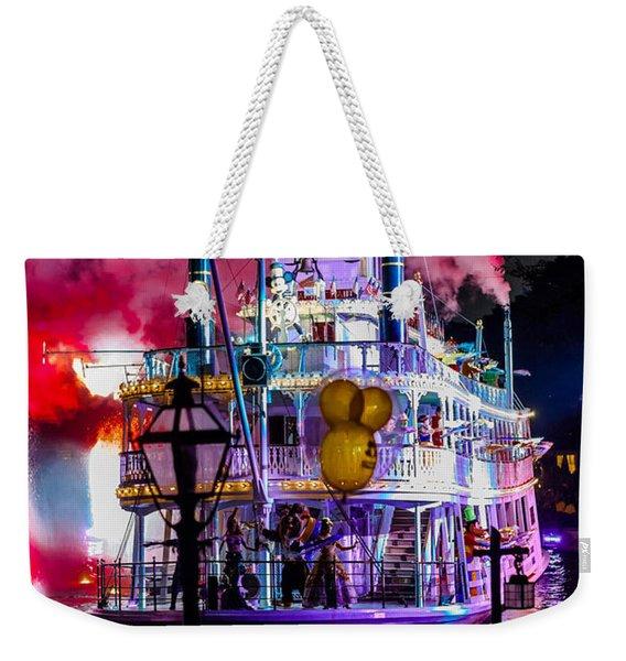 The Mark Twain Disneyland Steamboat  Weekender Tote Bag
