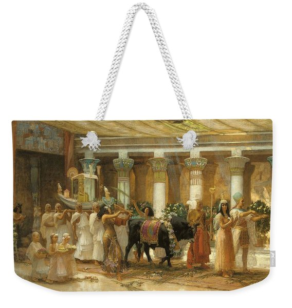 The Procession Of The Sacred Bull Weekender Tote Bag