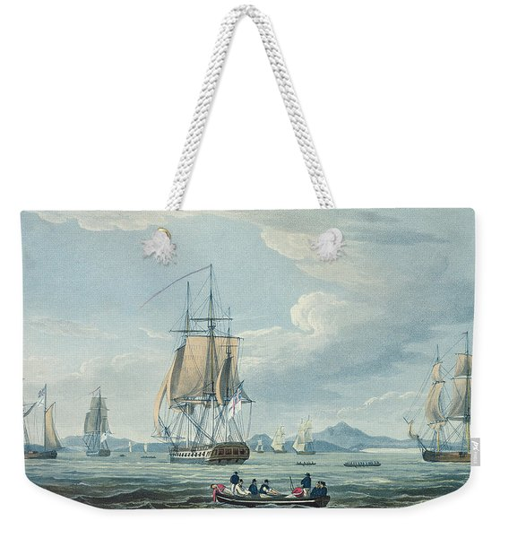 The Prometheus And The Melpomene In The Gulf Of Riga Weekender Tote Bag