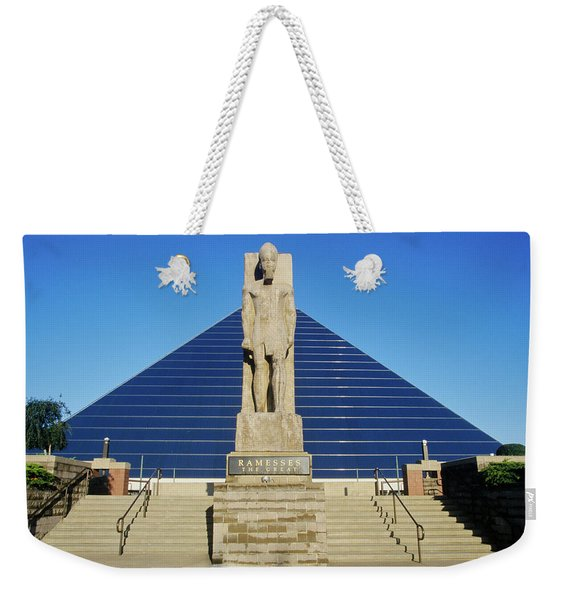 The Pyramid Sports Arena In Memphis, Tn Weekender Tote Bag