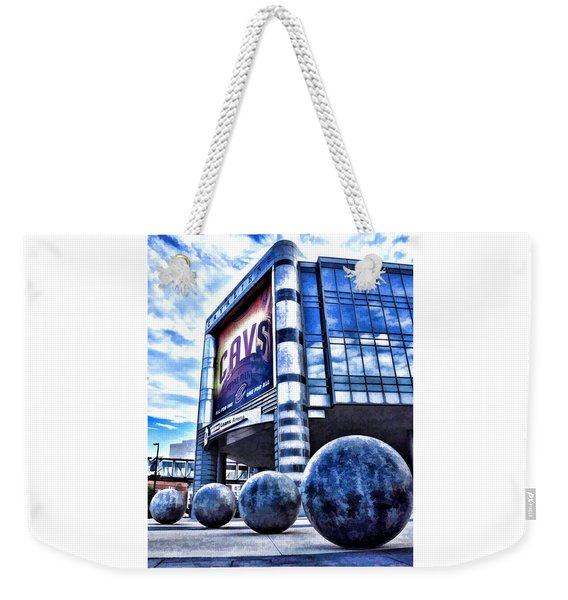 The Q - Home Of The 2016 Nba Champion Cleveland Cavaliers - 1 Weekender Tote Bag