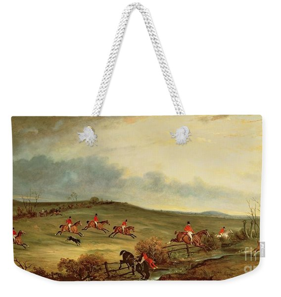 The Quorn In Full Cry Near Tiptoe Hill Weekender Tote Bag