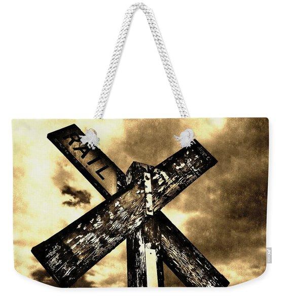 The Railroad Crossing Weekender Tote Bag