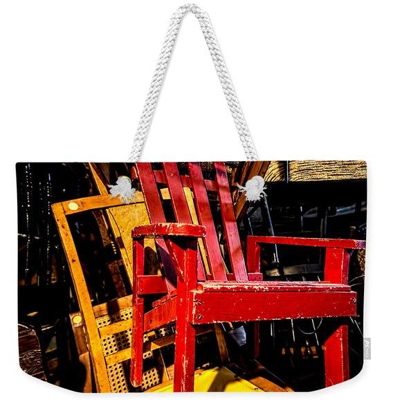 The Red Chair Weekender Tote Bag