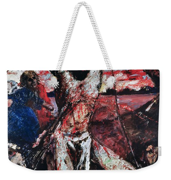 The Red Christ Weekender Tote Bag