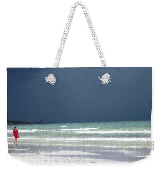 The Red Dress - Beach Art By Sharon Cummings Weekender Tote Bag