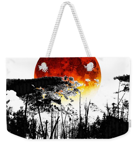 The Red Moon - Landscape Art By Sharon Cummings Weekender Tote Bag