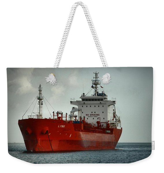 The Red Ship Weekender Tote Bag