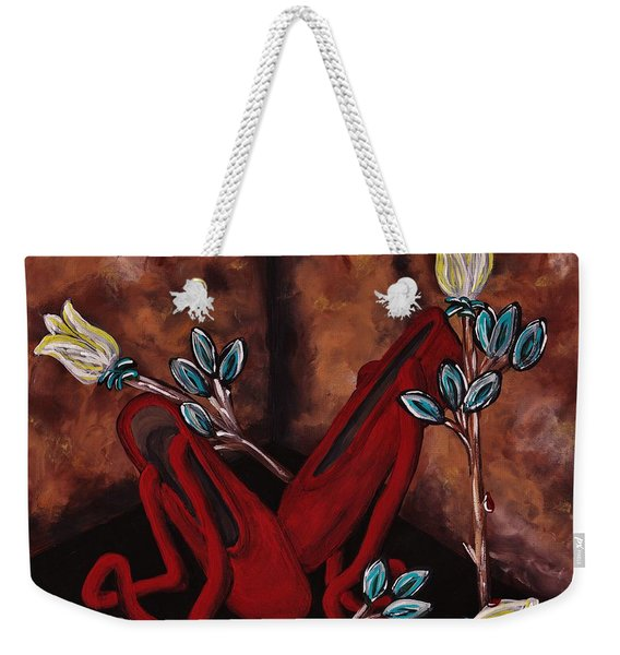The Red Shoes Weekender Tote Bag