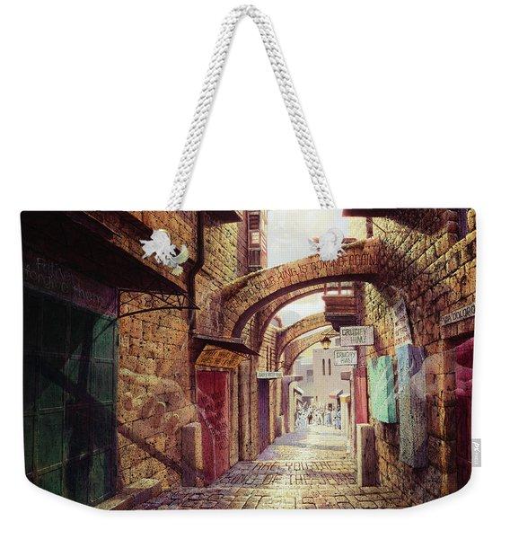 The Road To The Cross  Jerusalem Weekender Tote Bag