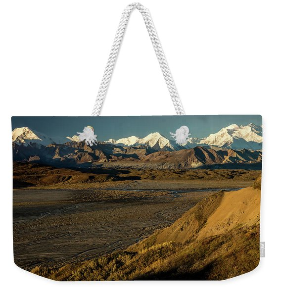 The Road Up To Polychome Pass, Denali Weekender Tote Bag