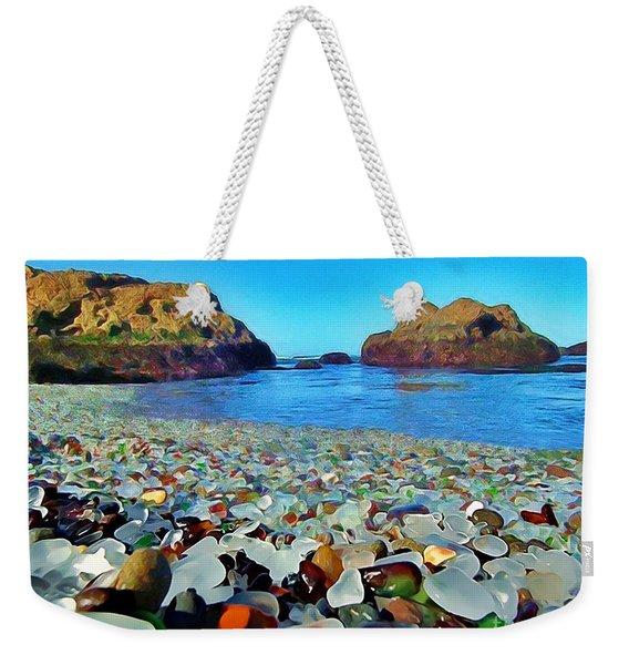 Glass Beach In Cali Weekender Tote Bag