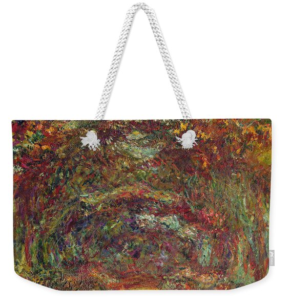The Rose Path, Giverny, 1920-22 Oil On Canvas Weekender Tote Bag