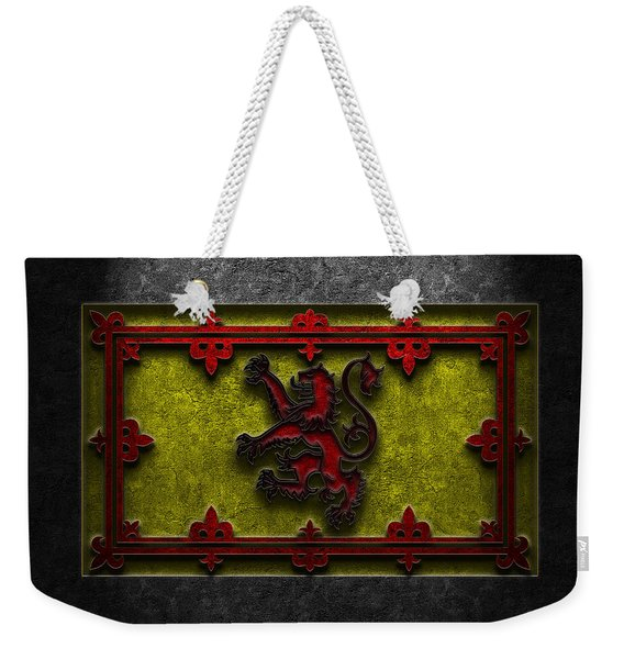 The Royal Standard Of Scotland Stone Texture Weekender Tote Bag