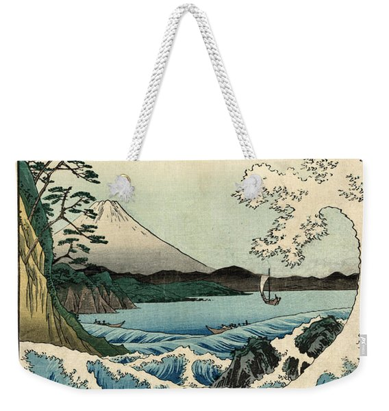 The Sea At Satta In Suruga Province Weekender Tote Bag