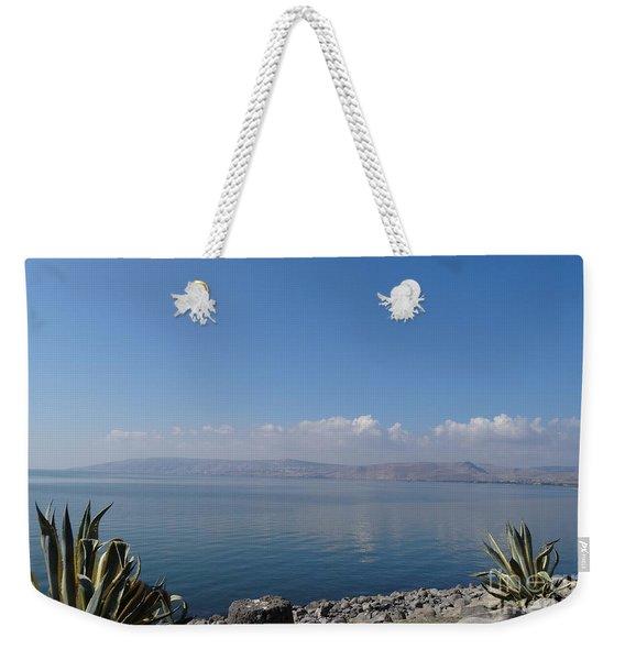 The Sea Of Galilee At Capernaum Weekender Tote Bag
