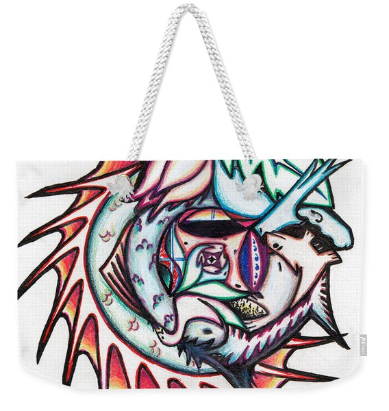 The Seahorse Mosaic Weekender Tote Bag