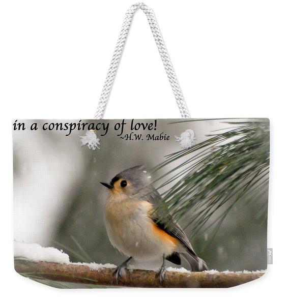 The Season Of Love  Weekender Tote Bag