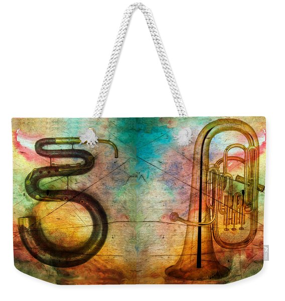 The Serpent And Euphonium -  Featured In Spectacular Artworks Weekender Tote Bag