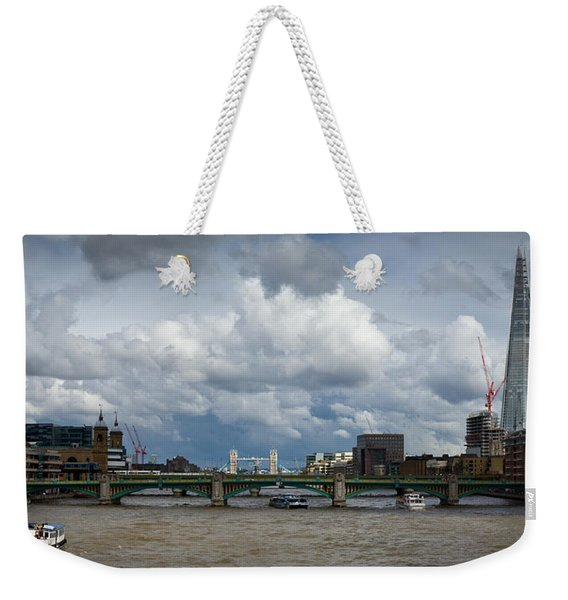 The Shard And Thames View Weekender Tote Bag