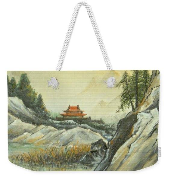 The Silence In The Mountains Weekender Tote Bag