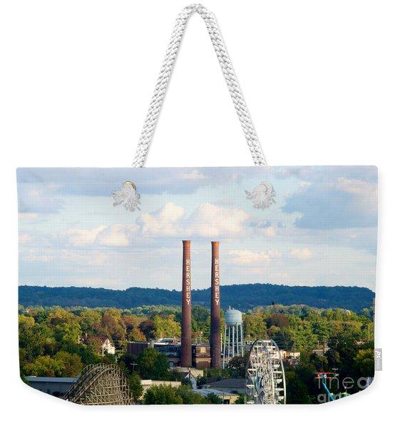 The Smoke Stacks Stand Resolute  Weekender Tote Bag