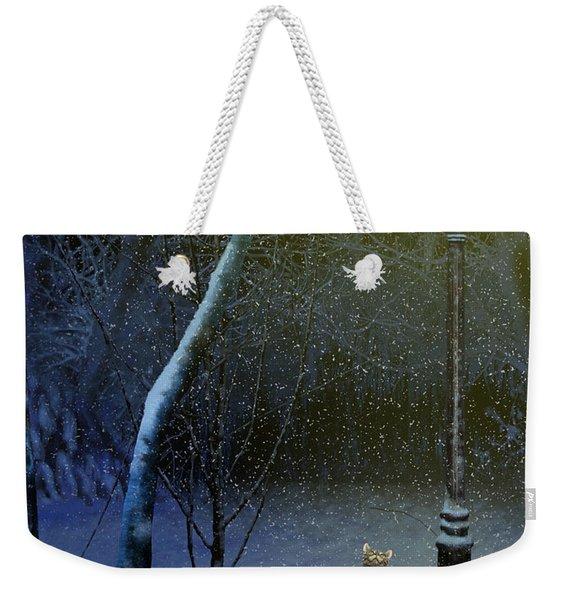 The Snow Cat Weekender Tote Bag