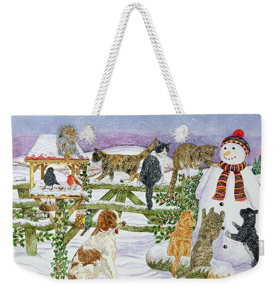 The Snowman And His Friends  Weekender Tote Bag