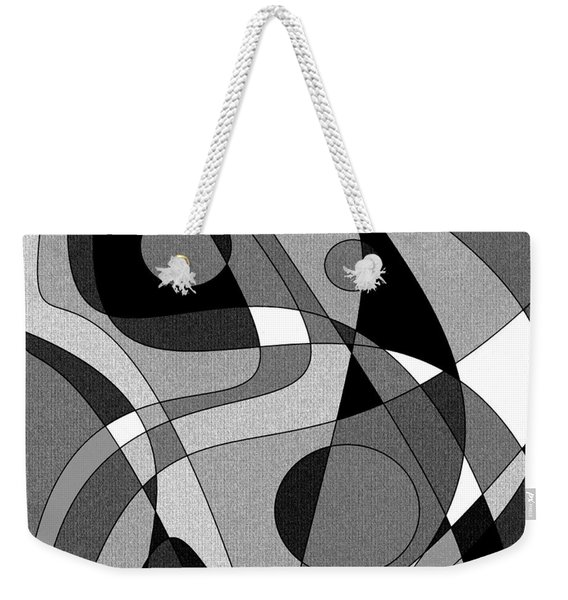 The Soloist - Black And White Weekender Tote Bag