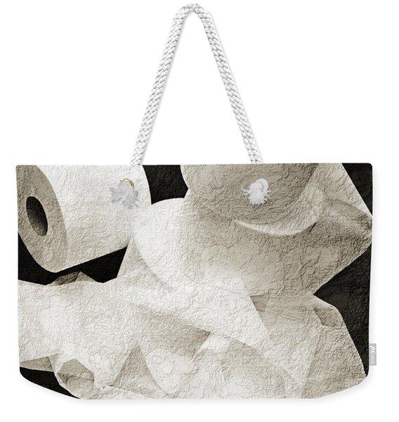 The Spare Rolls 1 - Toilet Paper - Bathroom Design - Restroom - Powder Room Weekender Tote Bag