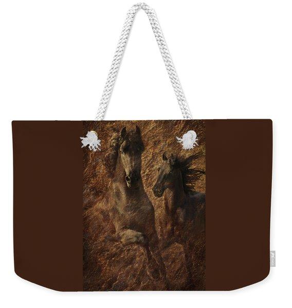 The Spirit Of Black Sterling Weekender Tote Bag