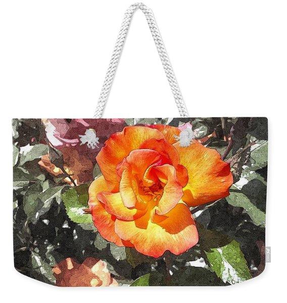 The Spring Rose Weekender Tote Bag