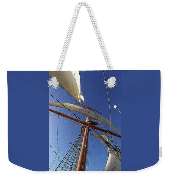 The Star Of India. Mast And Sails Weekender Tote Bag